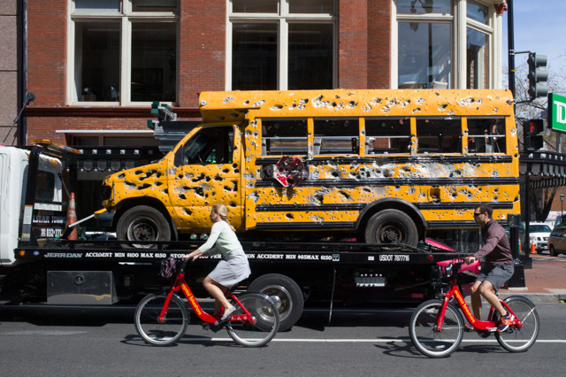 Bus with Cyclists