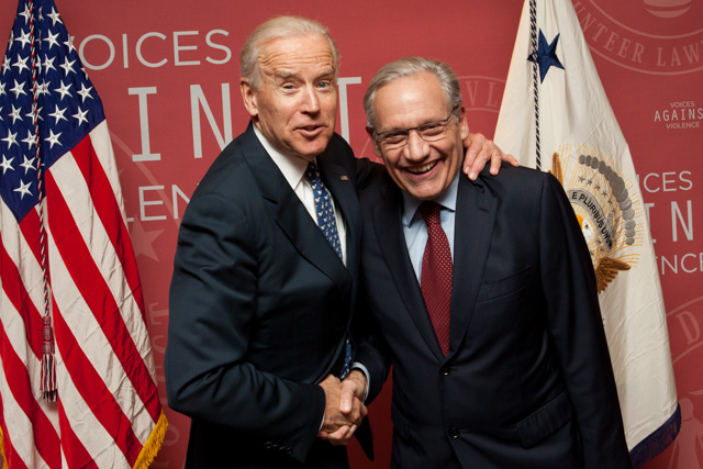 VP Biden and Bob  Woodward
